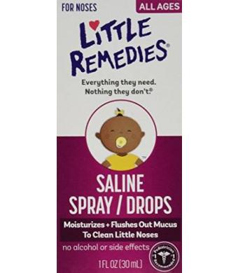 Medtech Laboratories Little Noses Saline Spray/Drops, 3 Count
