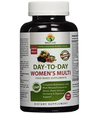 Briofood, DAY-TO-DAY Women's Multi, Food Based Multivitamin with vegetable source omegas, 180 Tablets