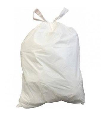 PlasticPlace 4-6 Gallon Drawstring Bags - White - 200/Case