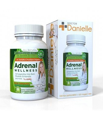 Dr Danielle Dr. Danielle Adrenal Wellness with Ashwaganda, Rhodiola, Schisandra and more Adrenal and Cortisol Herbal Supplement