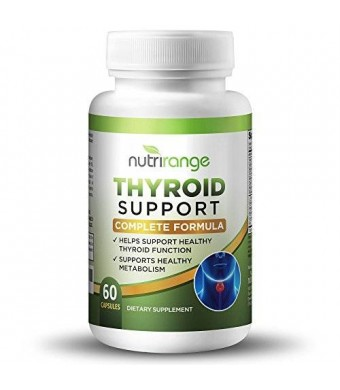 Thyroid Support Supplement - Complete Formula For Increased Metabolism and Effective Weight Loss - Best Quality Natural Ingredients Including Iodine