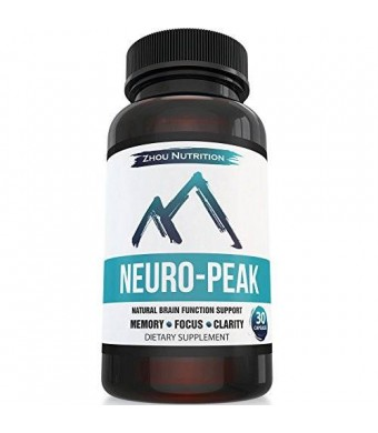 Zhou Nutrition Neuro-Peak - Natural Brain Function Support for Memory