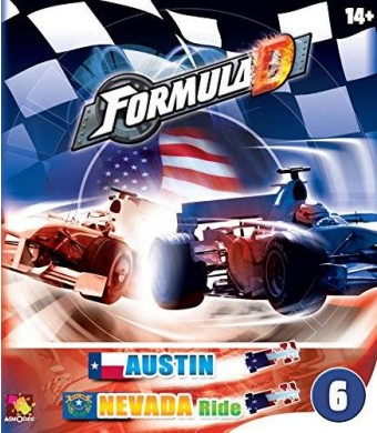 Asmodee Formula D Expansion 6 Austin/Nevada Ride Game