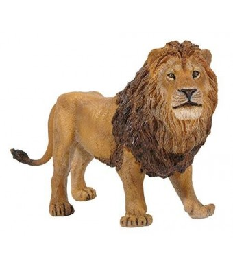 Papo Standing Male Lion Toy Figure