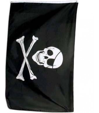 WILDFLAGS 1 X Pirate Flag Jolly Roger 3 ft by 5 ft