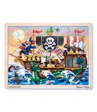 Melissa & Doug Melissa and Doug Deluxe Wooden 48-Piece Jigsaw Puzzle - Pirates