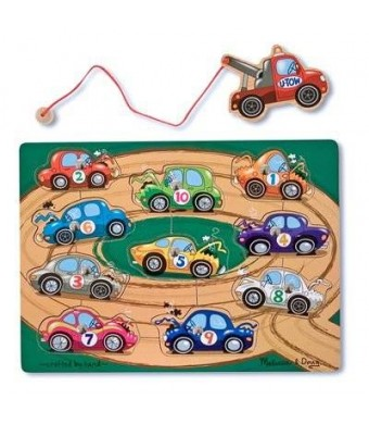 Melissa & Doug Melissa and Doug Deluxe 10-Piece Magnetic Towing Game