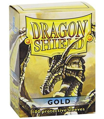 Dragon Shield Protective Card Sleeves (100 Count), Gold