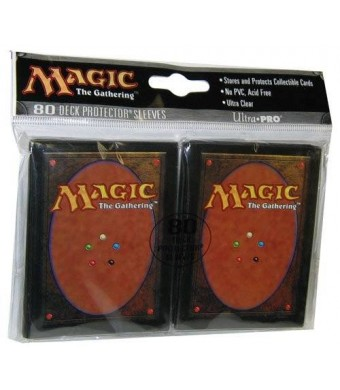 Magic: the Gathering Ultra Pro The Magic the Gathering (MTG) Card Back Deck Protectors (80 Sleeves) MAGIC CARD BACK! 82074 / 82801