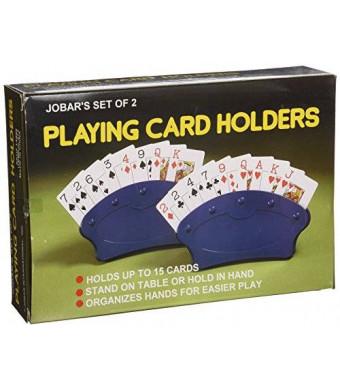 Jobar Playing Card Holders, Set of 2