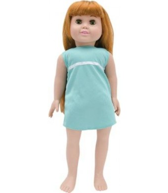 Fibre Craft Springfield Collection Pre-Stuffed Doll, 18-Inch, Olivia/Red Hair/Green Eyes