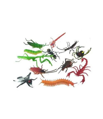 Rhode Island Novelty ~ 144 ~ Assorted Realistic Insects / Bugs