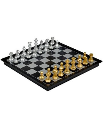 "Yellow Mountain Imports Travel Magnetic Chess Set - 9.7""'"