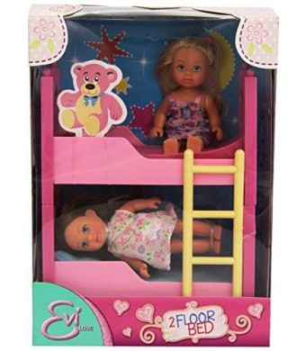 Mommy & Me Doll Collection Evi Love 2 in 1 Bunk bed with 2 dolls and bedding