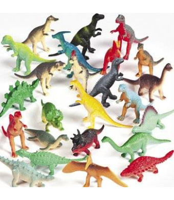 Fun Express Vinyl Mini Dinosaurs (72 count)