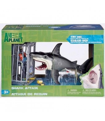 Extreme Shark Adventure - Shark Attack Figure Playset By Animal Planet
