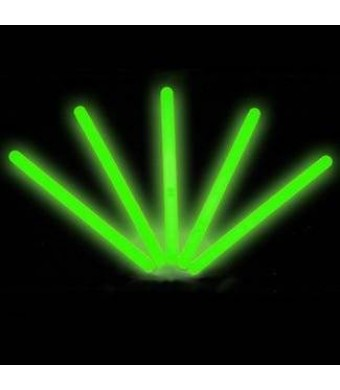 "6"" Lumistick Glow Stick Light Sticks Green (Tube of 25)"