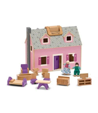 Melissa & Doug Melissa and Doug Fold and Go Wooden Dollhouse