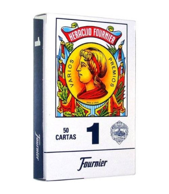 N.H. Fournier S.A. Educational Products - Fournier 1-50 Spanish Playing Cards (Blue) - Real Spanish Playing Cards