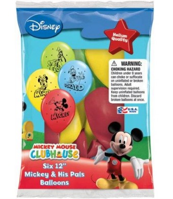 "Pioneer National Latex Disney Mickey and His Pals 12"" Assorted Color Balloons(set of 36)"
