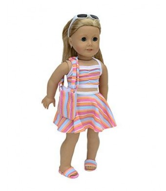 "Doll Club of America LLC 6 piece Swimsuit Set Fits 18"" American Girl Doll Clothes"
