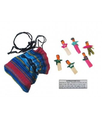 Maya Traditions - Guatemala Worry Dolls in a Bag