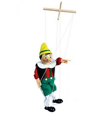 The original Toy Company Original Wooden Marionette Pinocchio