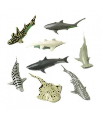 US Toy Shark Toy Animals (12 Count)