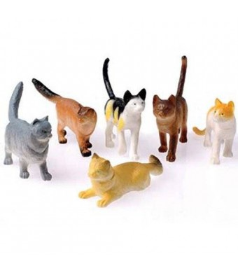 US Toy Toy Cats, 12 Count