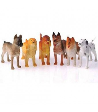 "US Toy Toy Dogs Toy Figure (1 Dozen), 4"" Long"