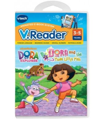 VTech V.Reader Animated E-Book Cartridge - Dora and the Three Little Pigs