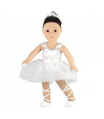 "Emily Rose Doll Clothes Prima Ballerina/Ballet Outfit - 18 Inch Doll Clothes/clothing Fits American Girl Dolls - Includes 18"" Accessories"