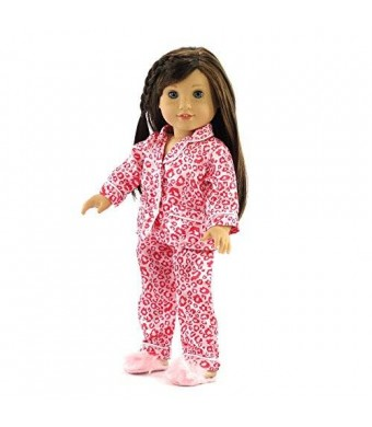 """Emily Rose Doll Clothes 18 Inch Doll Clothes Pink Leopard Pajamas 