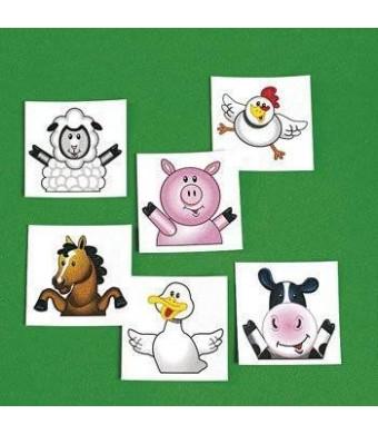 Fun toys 72 Farm Party Tattoos