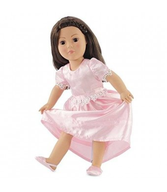 """Emily Rose Doll Clothes 18 Inch Doll Clothes Pretty Nightgown - Fits American Girl Dolls Includes 18"""" Slippers"""