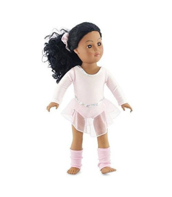 Emily Rose Doll Clothes 18 Inch Doll Champion Ballet Skater | Fits American Girl Doll Skating Outfit | Ballet Warm-up