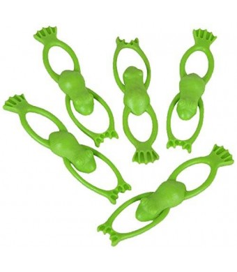 """Oriental Trading Stretchable Flying Slingshot Frogs, 3.5"""""""