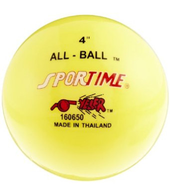 Sportime Multi-Purpose Inflatable All-Balls - 4 inch - Set of 12 - Yellow