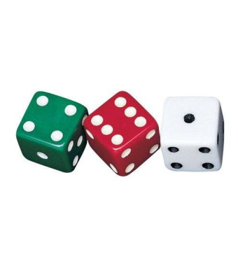 School Smart Dotted Dice - Set of 36 - Assorted Colors