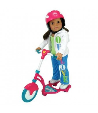 Doll Scooter and Helmet Set Made by Sophia's