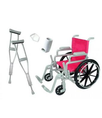 Doll Wheelchair Set for 18 Inch Dolls Like American Girl Dolls Made by Sophia's