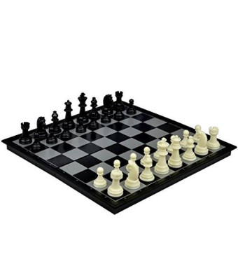 Yellow Mountain Imports 2 in 1 Travel Magnetic Chess and Checkers Set - 12.5''