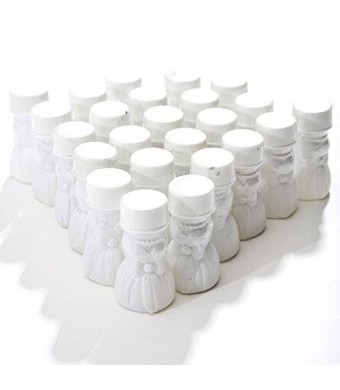 Century Novelty Wedding Gown Bubble Bottles, pack of 24