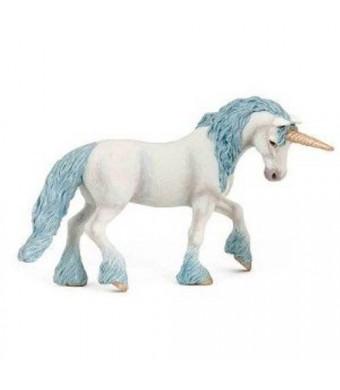 Papo Magic Unicorn with Blue Toy Figure
