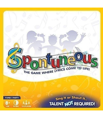 Spontuneous - Family Board Game Night - The Game Where Lyrics Come to Life! Sing It or Shout It....Talent NOT Required! (2015 Best Gifts