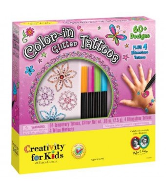 Creativity for Kids Color-in Glitter Tattoos