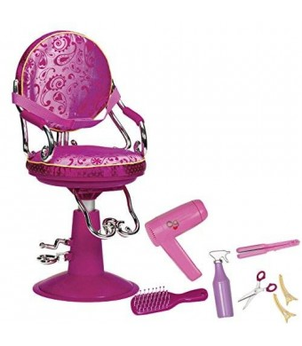 "Our Generation Hot Pink Salon Chair For 18"" Dolls"
