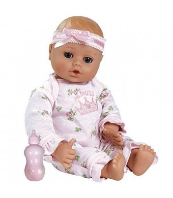 """Adora PlayTime Baby- Little Princess, 13"""" Washable Soft Body Play Doll for Children 12 months and up, with Pink Romper and Bottle"""