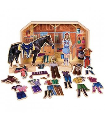 T.S. Shure Stable Pals Becca and Beauty Wooden Magnetic Dress-Ups
