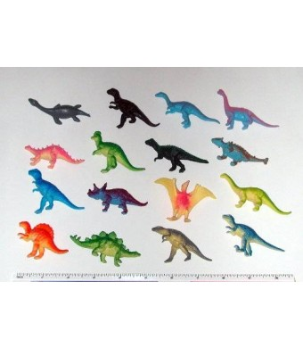 "Rhode Island Novelty ~ 12 ~ Mini Dinosaur Figures ~ Hard Plastic- 2""-3""~ NEW"
